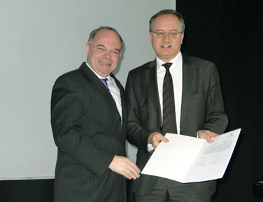 Minister Stoch und Jacques-Pierre Gougeon